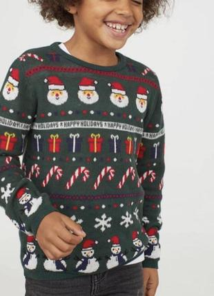 Новогодний свитер от h&m фотосессия новый год принт санта