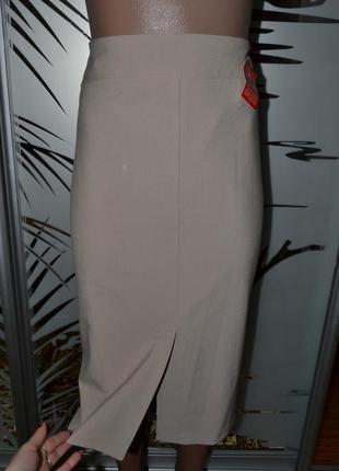 Плотная юбка с разрезом спереди на подкладке