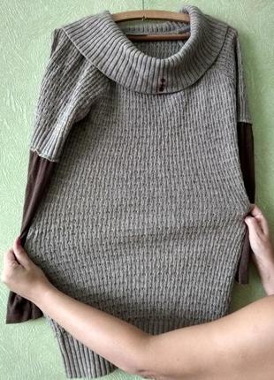 Вязаная туника / свитер