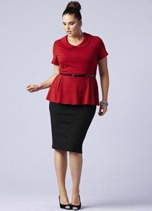 Красивое черное с красным платье с басочкой и открытой спинкой, (m, l)