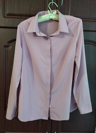 Женская рубашка лилового цвета