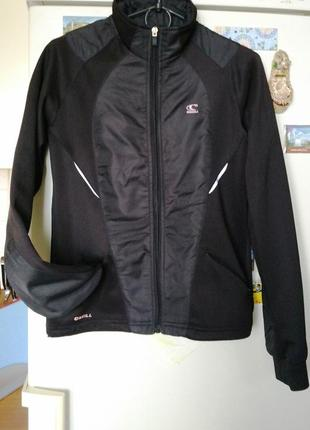 Черный женский спортивный прогулочный костюм o'neill штаны ветровка кофта на молнии