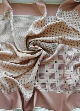 Люкс бренд!!! красивий фірмовий шовковий платок christian dior!