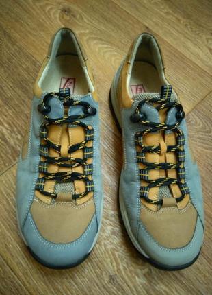 Кожаные (натуральный нубук) спортивные туфли / кроссовки / полуботинки medicus (германия)