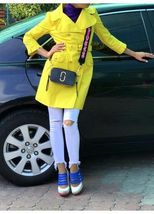 Яркий желтый плащ/тренч juicy couture