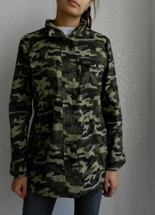 Плотная милитари ветровка куртка