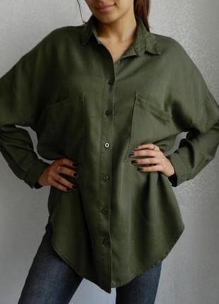 Бомбезная оверсайз винтаж рубашка