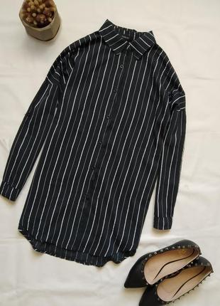 Легкая котоновая рубашка в полоску today