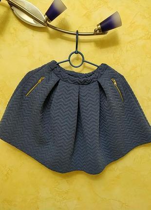 Красивейшая юбочка на девочку из плотно вязанного трикотажа