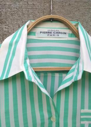 Шелковая рубашка в полоску от pierre cardin