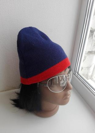 Крутая теплая стильная зимняя шапочка двойная для мужчин или женщин