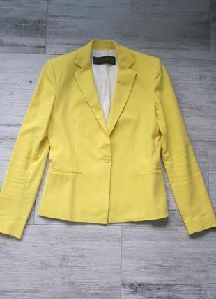 Крутой лимонный желтый пиджак zara