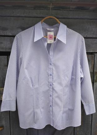 Новая рубашка в полоску с биркой от m&s