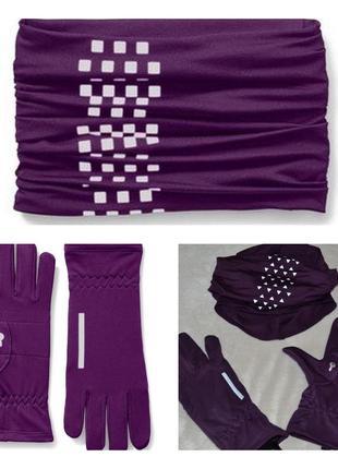 Комплект сенсорные термо перчатки от tchibo(германия) и многофункциональный снуд