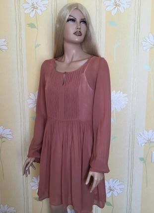 Платье прозрачное нюдового цвета next размер 10