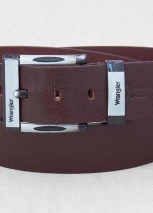 Кожаный мужской коричневый ремень wrangler для джинс