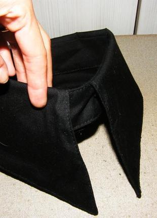 Черный воротник венсди семейка адамс, воротник манжета с острыми длинными углами