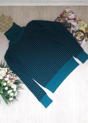 Полосатый свитер  c горлом  размер с maddison