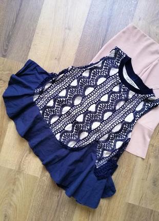 🌿 нарядная ажурная блузка с оборкой