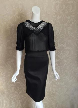 Hugo boss черная классическая юбка карандаш