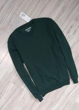 Новый с бирками мужской свитшот  тёмно зеленного цвета, привезён с польши , l размер