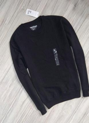 Новый с бирками мужской свитшот  тёмно черного цвета, привезён с польши , l размер