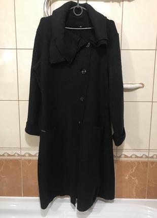 Пальто тренч кардиган плащ 100% шерсть лана