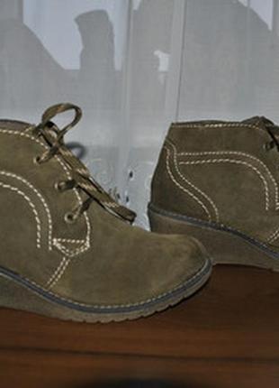 Кожаные замшевые ботиночки