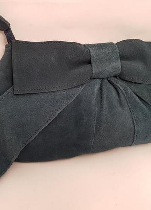 Warehouse! бесподобная замшевая сумка#клатч красивого бутылочного цвета