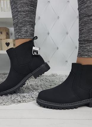 Новые женские демисезонные черные ботинки