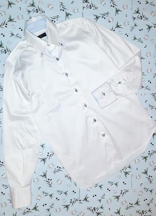 Крутая итальянская белая рубашка s. valentoni, размер 46 - 48