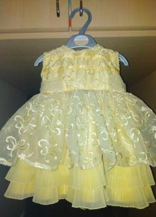 Платье нарядное на 1 годик день рождения