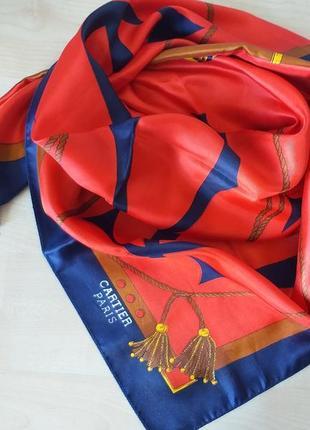Cartier paris шелковый платок