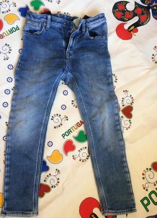 Крутые джинсы скинни 7-8 лет
