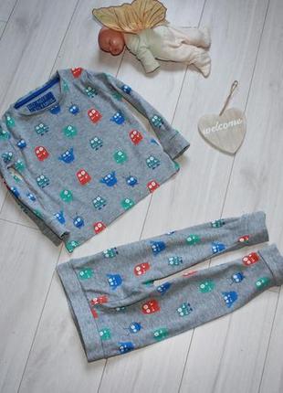 Пижама хлопок на 1 года монстрики m&s