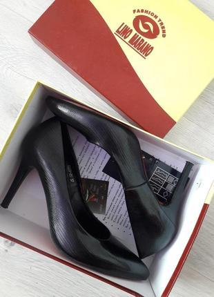 Туфли lino marano на шпильке классические туфли лодочки