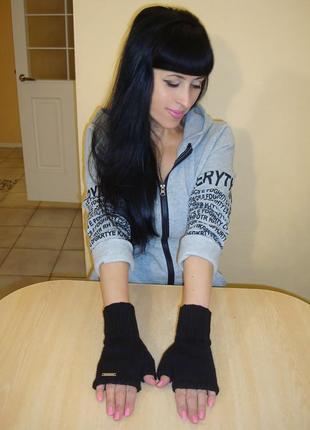 Митенки женские перчатки без пальцев - faith