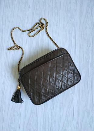 Винтажная кожаная сумочка leder-locher