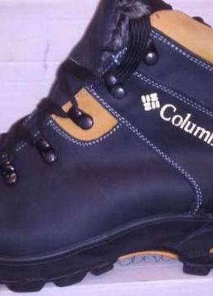 Мужские зимние ботинки(чоловічі черевики) из натуральной кожи.columbia