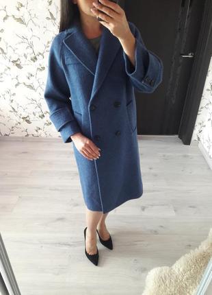 Пальто женское шерстяное модель oversize/новое пальто оверсайз