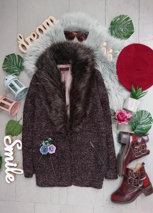 Актуальное пальто пиджак со съёмным капюшоном №11max