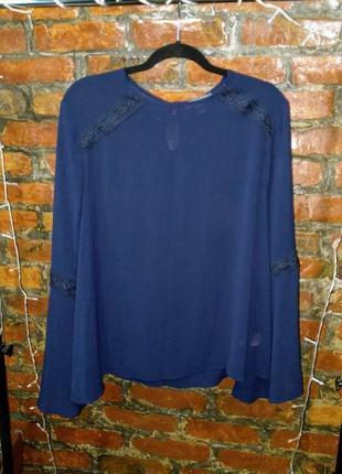 Свободная блуза с объемными рукавами воланами primark