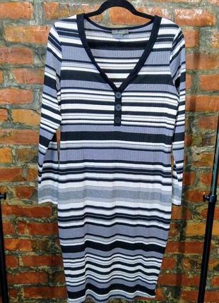 Платье свитер по фигуре из трикотажа в полоску primark