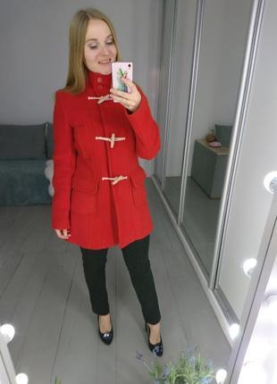 Теплое пальто дафлкот с шерстью в составе