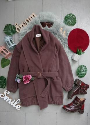 Актуальное винтажное шерстяное пальто оверсайз №14max