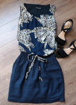 Платье с резинкой на талии и леопардовым принтом norm размер s-m