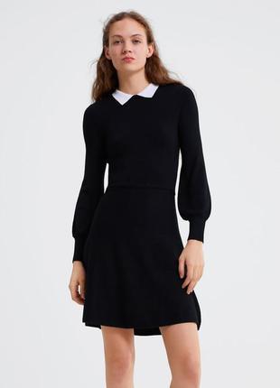 Платье из вискозы офисное платье zara 2019