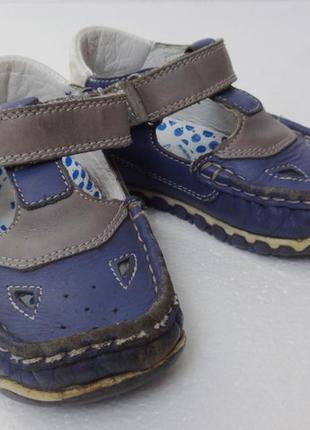 Bartek. кожаные закрыте сандалии мальчику. 14,5 см стелька.