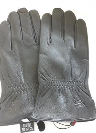 Перчатки кожа оленина на шерсти