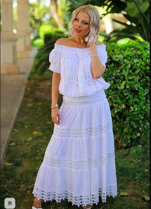 Кружевная белая юбка fresh-cotton 012 f-1c